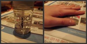 Clear nail varnish