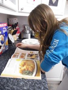 Chicken escalopes, reading