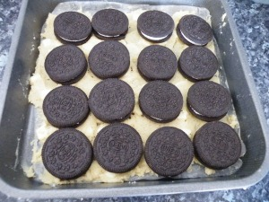 Brownies oreo covered
