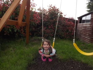 Playing on the swing