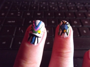 aztec nails- triangles 2