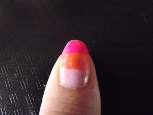 Nails pink shades