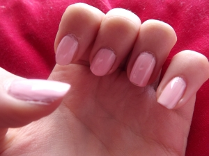 Pink scente nail varnish